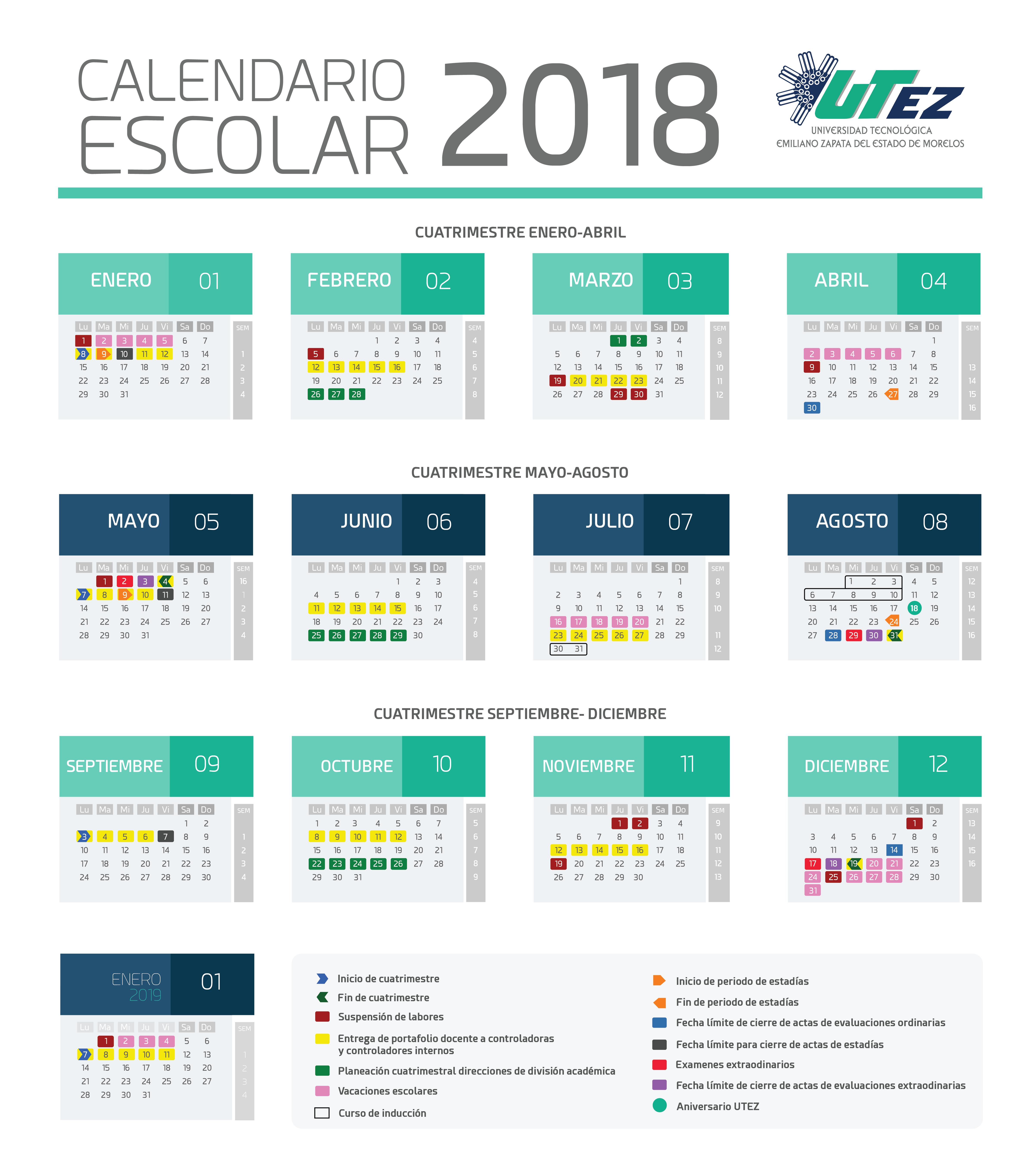 Calendario2018g tamao letra altavistaventures Gallery